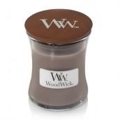 WoodWick Black Amber & Citrus Mini Jar Candle
