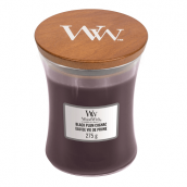 WoodWick Black Plum Cognac Medium Jar Candle