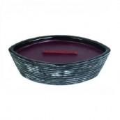 WoodWick Black Shell Black Cherry Ellipse Hearthwick Jar Candle