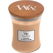 WoodWick Golden Milk Medium Jar Candle