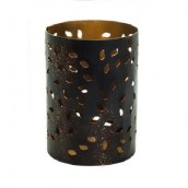 WoodWick Petite Candle Holder Glowing Leaf