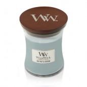 WoodWick Sea Salt & Cotton Medium Jar Candle