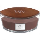 WoodWick Stone-Washed Suède Ellipse Hearthwick Jar Candle