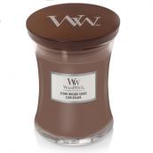 WoodWick Stone-Washed Suède Medium Jar Candle