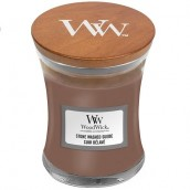 WoodWick Stone-Washed Suède Mini Jar Candle
