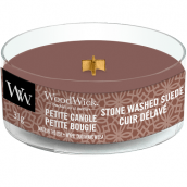WoodWick Stone-Washed Suède Petite Candle