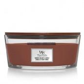 WoodWick Smoked Walnut & Maple Ellipse Hearthwick Jar Candle