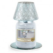 Yankee Candle Savoy Large Shade & Tray - Blue Pattern