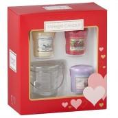 Yankee Candle Valentine's Day 3 Votive & 1 Holder Gift Set