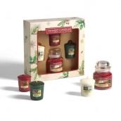 Yankee Candle Magical Christmas Morning 1 Small Jar + 3 Votives Gift Set