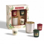 Yankee Candle Magical Christmas Morning 3 Votives & 1 Holder Gift Set