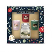 Yankee Candle Countdown To Christmas 1 Small Jar + 3 Votives Gift Set