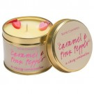 Bomb Cosmetics Caramel & Pink Pepper Tinned Candle