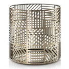 Yankee Candle Crosshatch Brass Jar Holder
