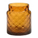 Yankee Candle Deco Lounge Amber Glass Jar Holder