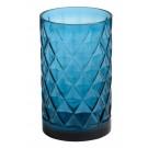 Yankee Candle Deco Lounge Blue Glass Jar Holder