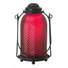 Yankee Candle Glass Lantern Votive Holder Maroon