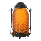 Yankee Candle Glass Lantern Votive Holder Orange