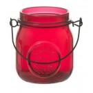 Yankee Candle Jam Jar Tea Light  Holder Maroon