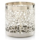 Yankee Candle Matrix Brushed Silver Small Pillar Holder