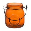 Yankee Candle Jam Jar Tea Light  Holder Orange