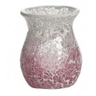 Yankee Candle Pink Fade Crackle Scroll Melt Warmer