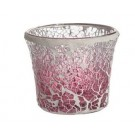 Yankee Candle Pink Fade Crackle Votive Holder