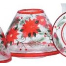 Yankee Candle Poinsettia Crackle Large Shade