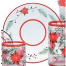 Yankee Candle Poinsettia Crackle Large Tray