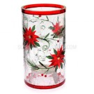 Yankee Candle Poinsettia Crackle Tea Light Holder- Medium