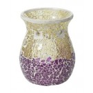 Yankee Candle Purple & Gold Crackle Melt Warmer