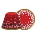 Yankee Candle Red & Gold Snowfall Small Shade & Tray