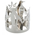 Yankee Candle Silver Penguins Jar Holder