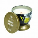 WoodWick Ebony Woods Tin Candle