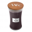 WoodWick Black Plum Cognac Large Jar Candle