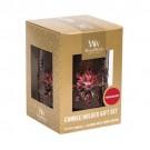 WoodWick Petite Candle Holder Gift Set _ Pomegranate