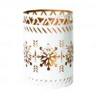 WoodWick Petite Candle Holder White Snowflake