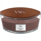 WoodWick Stone-Washed Suède Ellipse Hearthwick Jar Candle