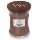 WoodWick Stone-Washed Suède Medium Jar Candle