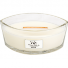 WoodWick White Teak Ellipse Hearthwick Jar Candle