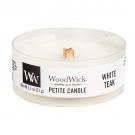 WoodWick White Teak Petite Candle