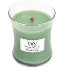WoodWick White Willow Moss Medium Jar Candle