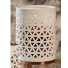 Yankee Candle Belmont Jar Holder - Lattice Ceramic With Base