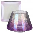 Yankee Candle Savoy Small Shade & Tray - Purple Pattern