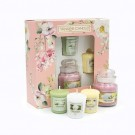 Yankee Candle Garden Hideaway 1 Small Jar + 3 Votives Gift Set