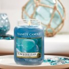 Yankee Candle Turquoise Glass Large Jar