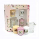 Yankee Candle Garden Hideaway 3 Votives + 1 Holder Gift Set