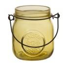 Yankee Candle Jam Jar Tea Light  Holder yellow
